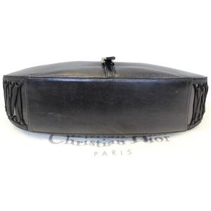 CHRISTIAN DIOR Bags - CHRISTIAN DIOR LACE UP ADMIT IT LEATHER HOBO BAG B